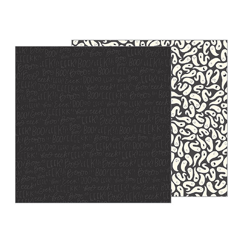Pebbles - Midnight Haunting Collection - Halloween - 12 x 12 Double Sided Paper - EEEK