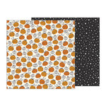 Pebbles - Midnight Haunting Collection - Halloween - 12 x 12 Double Sided Paper - Pumpkin Patch