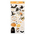 Pebbles - Midnight Haunting Collection - Halloween - Cardstock Stickers with Foil Accents