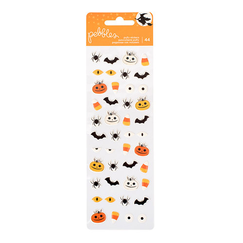 Pebbles - Midnight Haunting Collection - Halloween - Puffy Stickers - Mini