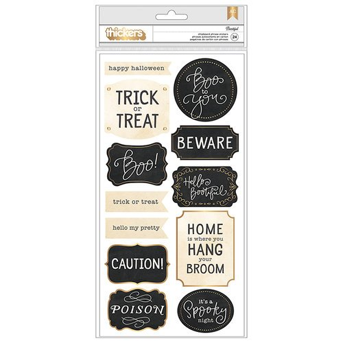 Pebbles - Midnight Haunting Collection - Halloween - Thickers - Phrase - Chipboard - Gold Foil