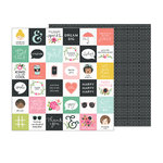 Pebbles - Girl Squad Collection - 12 x 12 Double Sided Paper - Hello Friends