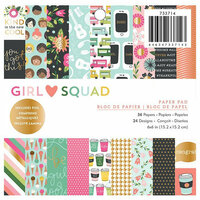 Pebbles - Girl Squad Collection - 6 x 6 Paper Pad with Foil Accents