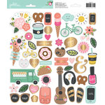 Pebbles - Girl Squad Collection - Cardstock Stickers with Foil Accents