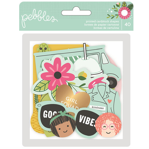 Pebbles - Girl Squad Collection - Ephemera with Foil Accents