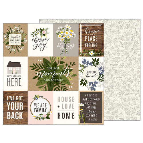 Pebbles - Heart of Home Collection - 12 x 12 Double Sided Paper - Heart of Home