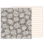 Pebbles - Heart of Home Collection - 12 x 12 Double Sided Paper - Pretty Peony