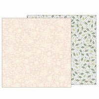 Pebbles - Heart of Home Collection - 12 x 12 Double Sided Paper - Heirloom Floral