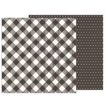 Pebbles - Heart of Home Collection - 12 x 12 Double Sided Paper - Pinstripe Buffalo Check
