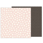 Pebbles - Heart of Home Collection - 12 x 12 Double Sided Paper - Painted Dots