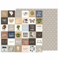 Pebbles - Heart of Home Collection - 12 x 12 Double Sided Paper - Love at Home