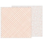 Pebbles - Heart of Home Collection - 12 x 12 Double Sided Paper - Painted Gingham