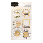 Pebbles - Heart of Home Collection - 3 Dimensional Stickers with Foil Accents