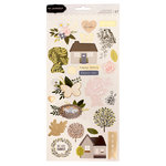 Pebbles - Heart of Home Collection - Cardstock Stickers with Foil Accents