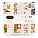 Pebbles - Heart of Home Collection - 6 x 6 Paper Pad with Foil Accents