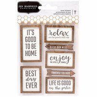 Pebbles - Patio Party Collection - Wood Veneer Layered Stickers