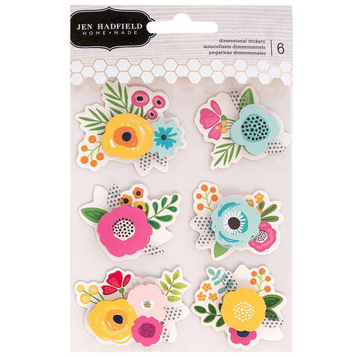 Pebbles - Patio Party Collection - 3 Dimensional Stickers