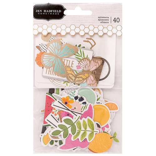 Pebbles - Patio Party Collection - Ephemera with Foil Accents