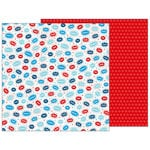 Pebbles - Land That I Love Collection - 12 x 12 Double Sided Paper - Boom Sparkle Pop