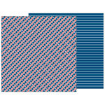 Pebbles - Land That I Love Collection - 12 x 12 Double Sided Paper - Start Stripes Forever