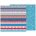 Pebbles - Land That I Love Collection - 12 x 12 Double Sided Paper - Happy 4th