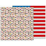 Pebbles - Land That I Love Collection - 12 x 12 Double Sided Paper - United We Stand