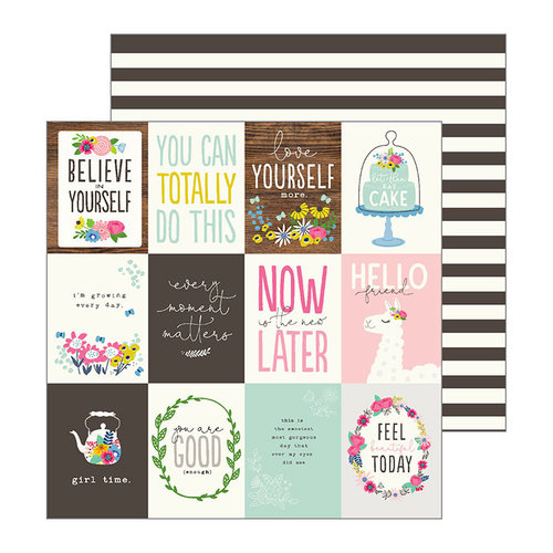 Pebbles - My Bright Life Collection - 12 x 12 Double Sided Paper - Bright Life
