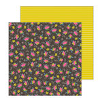 Pebbles - My Bright Life Collection - 12 x 12 Double Sided Paper - Stitched Flowers