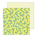 Pebbles - My Bright Life Collection - 12 x 12 Double Sided Paper - Lemons