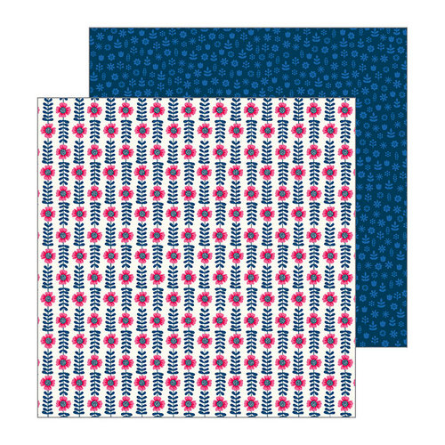 Pebbles - My Bright Life Collection - 12 x 12 Double Sided Paper - Flower Rows