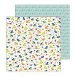 Pebbles - My Bright Life Collection - 12 x 12 Double Sided Paper - My Tweets