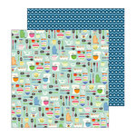 Pebbles - My Bright Life Collection - 12 x 12 Double Sided Paper - Kitchy Kitchen