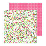 Pebbles - My Bright Life Collection - 12 x 12 Double Sided Paper - Flower Pop