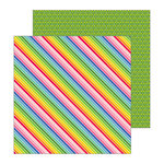 Pebbles - My Bright Life Collection - 12 x 12 Double Sided Paper - Bright Stripes