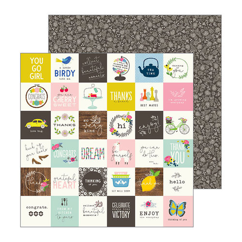Pebbles - My Bright Life Collection - 12 x 12 Double Sided Paper - Little Thoughts
