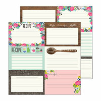 Pebbles - My Bright Life Collection - 12 x 12 Double Sided Paper - Recipes