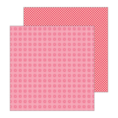 Pebbles - My Bright Life Collection - 12 x 12 Double Sided Paper - Strawberry Picnic