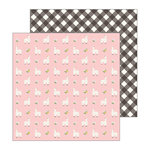 Pebbles - My Bright Life Collection - 12 x 12 Double Sided Paper - Lovely Llamas