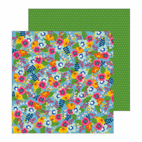 Pebbles - My Bright Life Collection - 12 x 12 Double Sided Paper - Fresh Picked