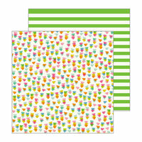 Pebbles - My Bright Life Collection - 12 x 12 Double Sided Paper - Cup of Tea