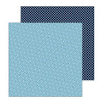 Pebbles - My Bright Life Collection - 12 x 12 Double Sided Paper - Blue Garden