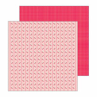 Pebbles - My Bright Life Collection - 12 x 12 Double Sided Paper - Sweet Cherries