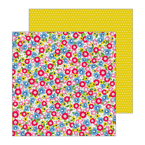 Pebbles - My Bright Life Collection - 12 x 12 Double Sided Paper - Field of Flowers