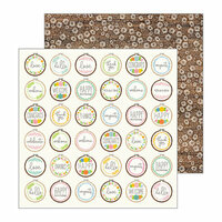 Pebbles - My Bright Life Collection - 12 x 12 Double Sided Paper - Cross Stitched