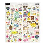 Pebbles - My Bright Life Collection - Cardstock Stickers with Foil Accents