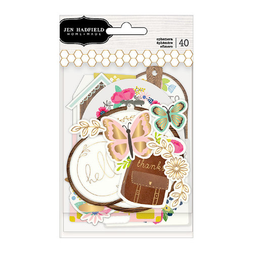 Pebbles - My Bright Life Collection - Ephemera with Foil Accents