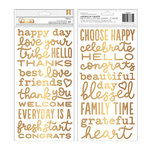 Pebbles - My Bright Life Collection - Thickers - Foam - Foil - Phrases
