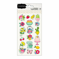 Pebbles - My Bright Life Collection - Puffy Stickers