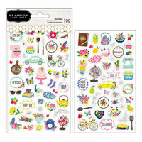 Pebbles - My Bright Life Collection - Clear Stickers - Mini