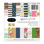 Pebbles - My Bright Life Collection - 6 x 6 Paper Pad with Foil Accents